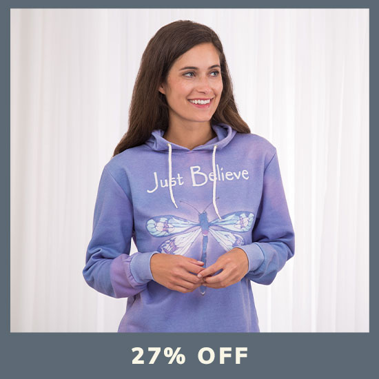 Just Believe Dragonfly Lightweight Hoodie - 27% OFF
