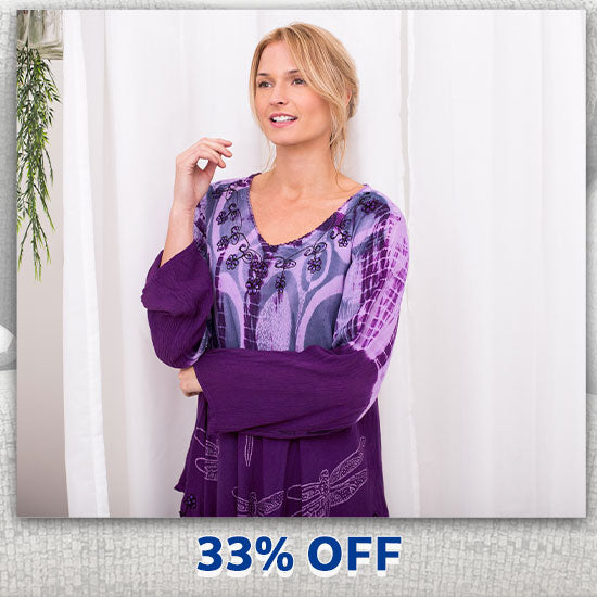 Darting Dragonfly Long Sleeve Tunic - 33% OFF