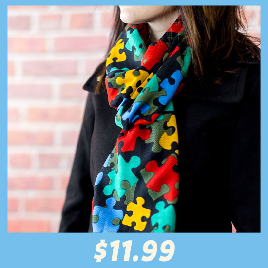 All Over Puzzle Twill Scarf - $11.99