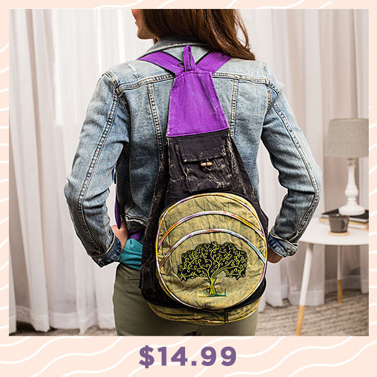Tree of Life Backpack Purse - $14.99