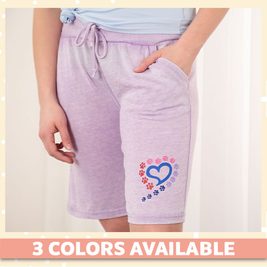 Paws to My Heart Burnout Board Shorts - 3 Colors Available