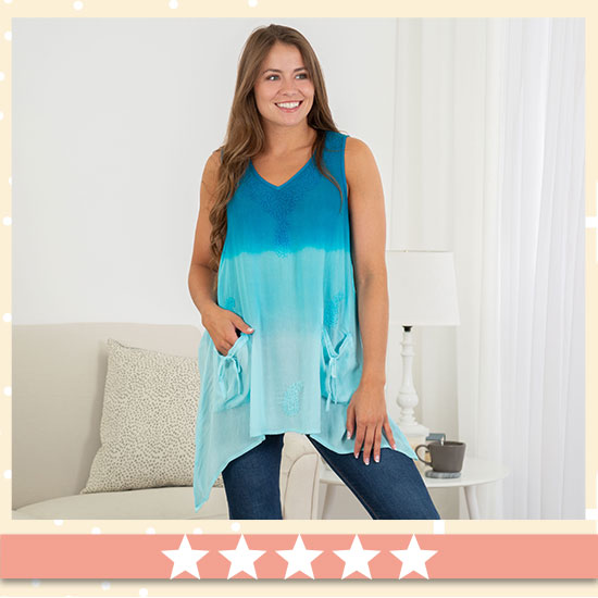 Surf to Sand Embroidered Tunic - ★★★★★