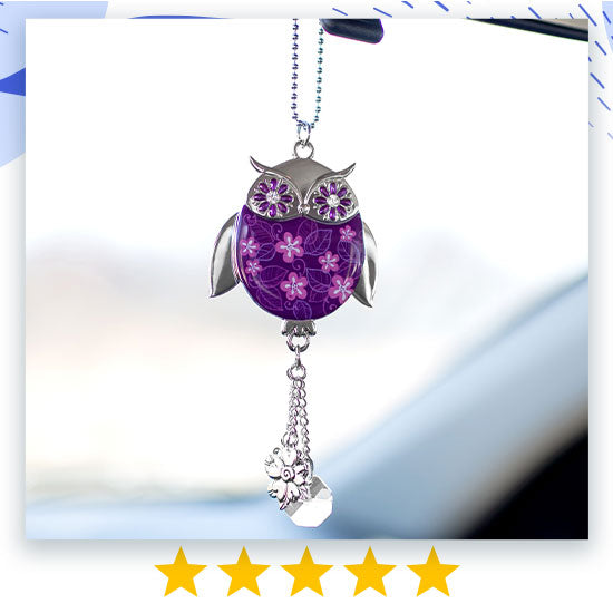 Wise in Love Owl Car Charm - ★★★★★