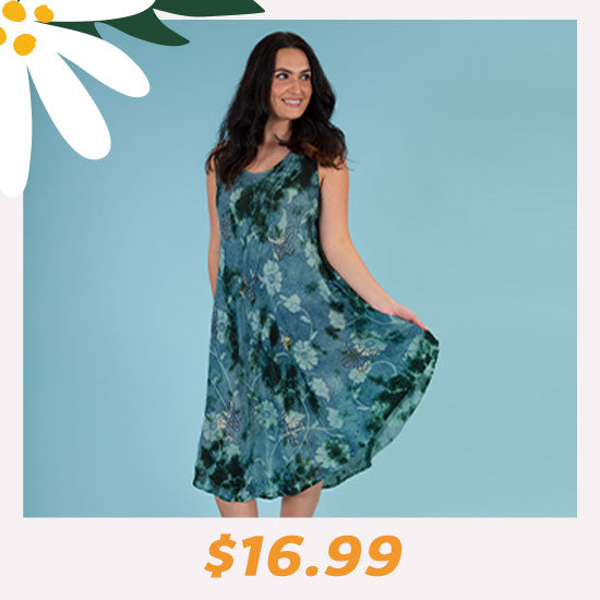 Butterflies & Blooms Long Dress - $16.99