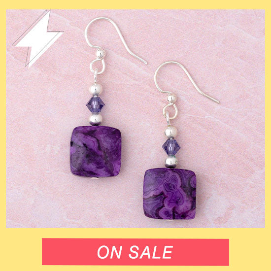Crazy Lace Agate Earrings - On Sale