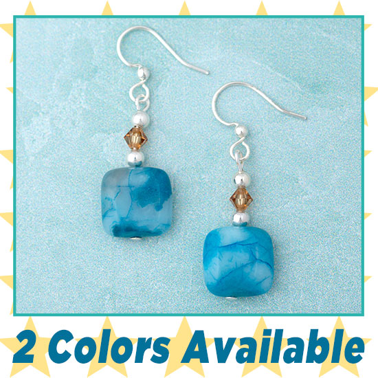 Crazy Lace Agate Earrings - 3 Colors Available