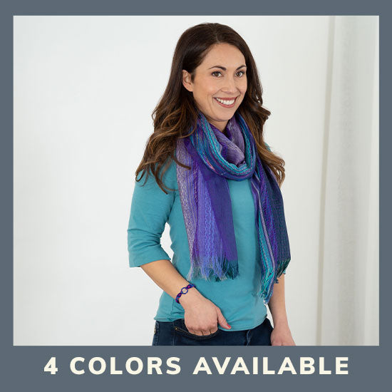 Dreaming Colors Hand-Loomed Scarf & Bracelet Set - 4 Colors Available