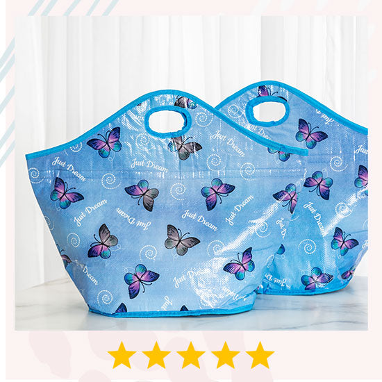 Just Dream Insulated Shopping Tote - Set of 2 - ★★★★★