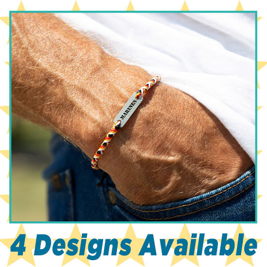 Military Hat Woven Bracelet Trio - 4 Designs Available