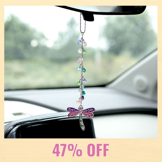 Dragonfly Glass Bead Car Charm - 47% OFF