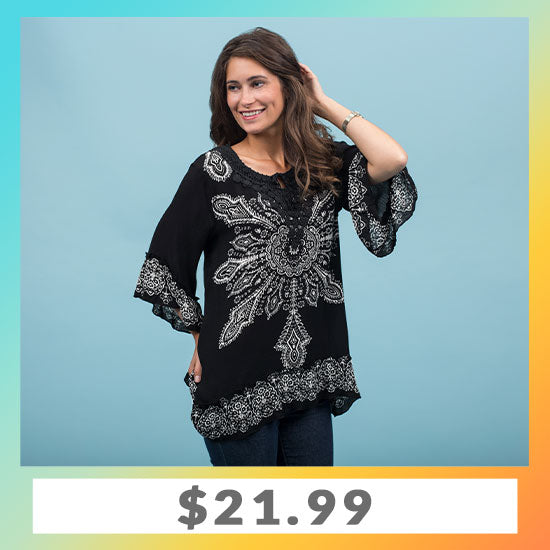 Blooming Sun Ruffle Tunic - $21.99
