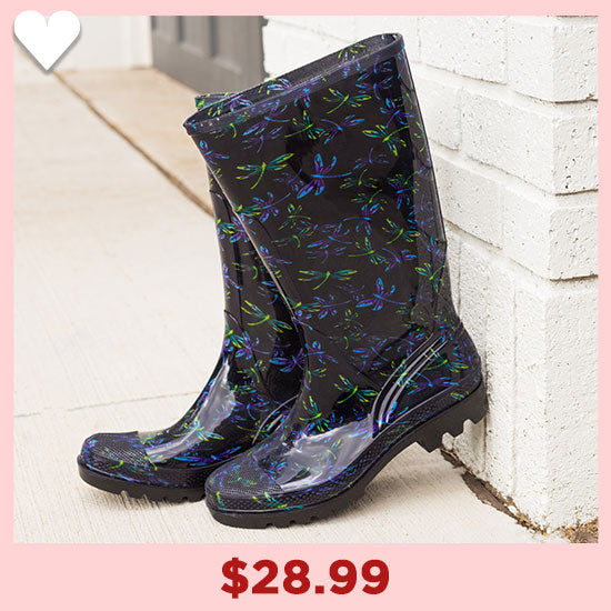 Ultralite™ Flight of the Dragonfly Rain Boots - $28.99