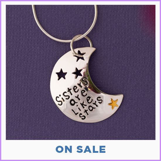 Sisters Are Like Stars Sterling & Brass Necklace - On Sale
