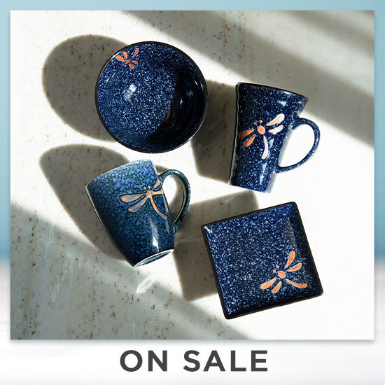 Midnight Dragonfly Dish Set - On Sale
