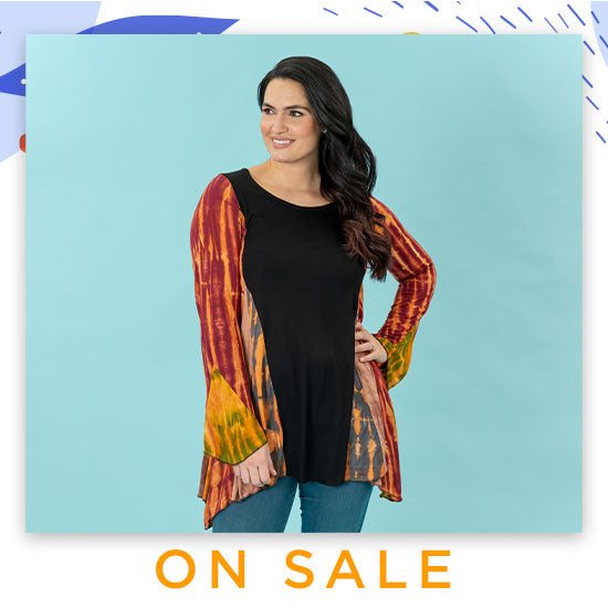 Perfectly Balanced Tie-Dye Long Sleeve Tunic - On Sale