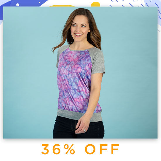 Watercolor Purple Paw Satin-Front Tee - 36% OFF