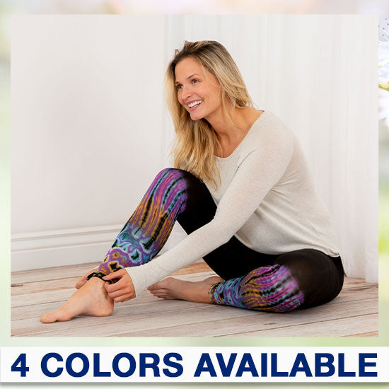 Tie-Dye Dip Leggings - 4 Colors Available