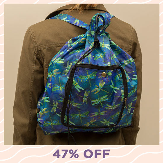 Swirling Dragonflies Packable Backpack - 47% OFF