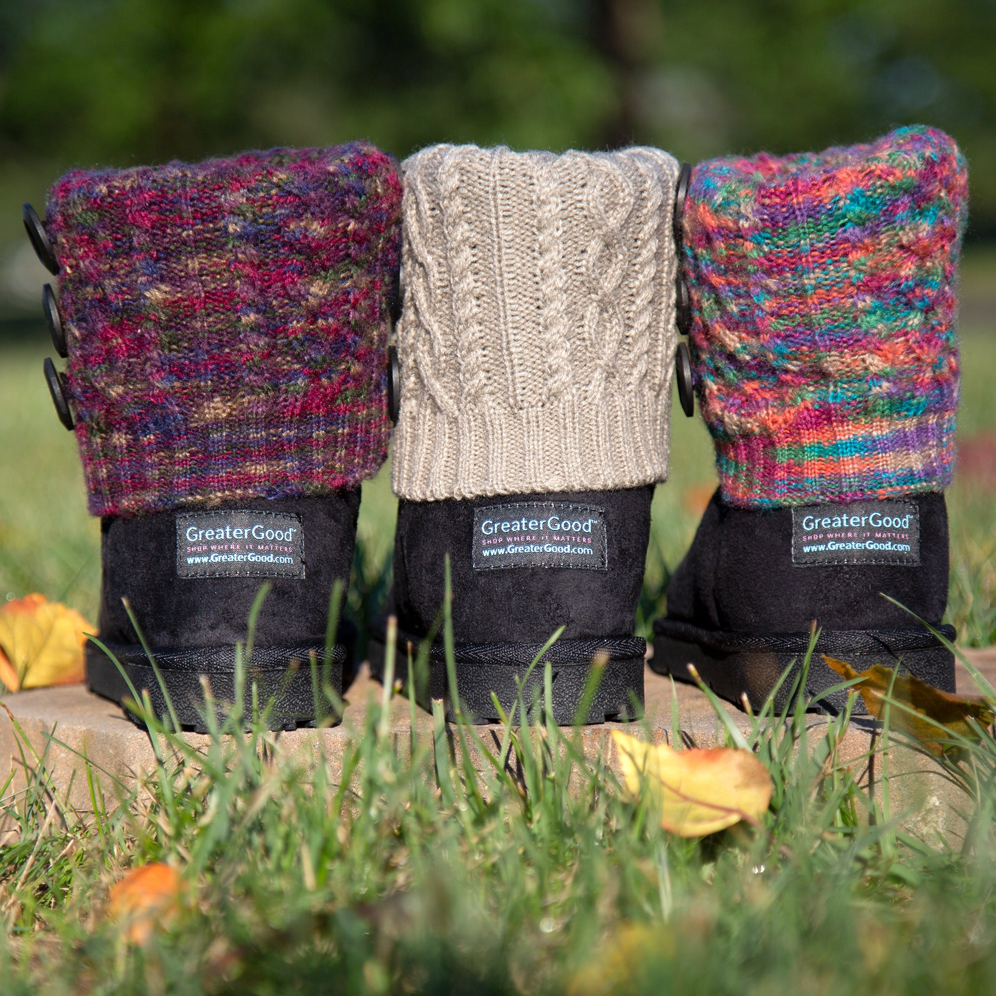 Interchangeable Cable Knit Cuff Boots