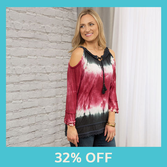 Untamed Spirit Cold Shoulder Top - 32% OFF