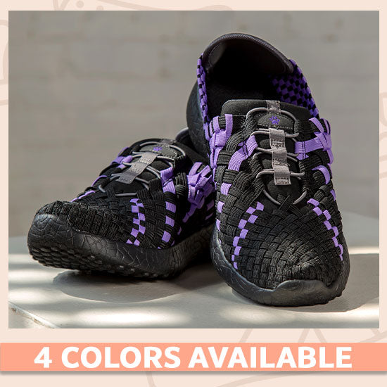 Purple Paw Woven Walking Shoes - 4 Colors Available