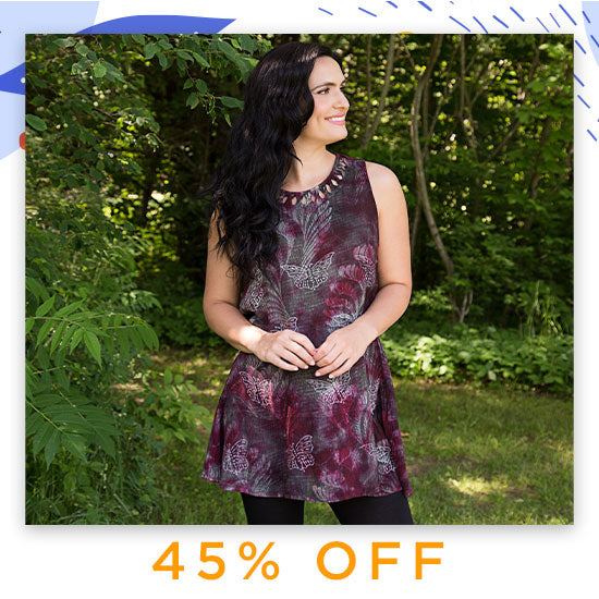 Holly's Monarch Sleeveless Tunic - 45% OFF