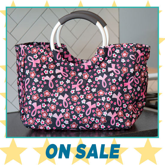 Pink Ribbon Insulated Shopping Bag - On Sale