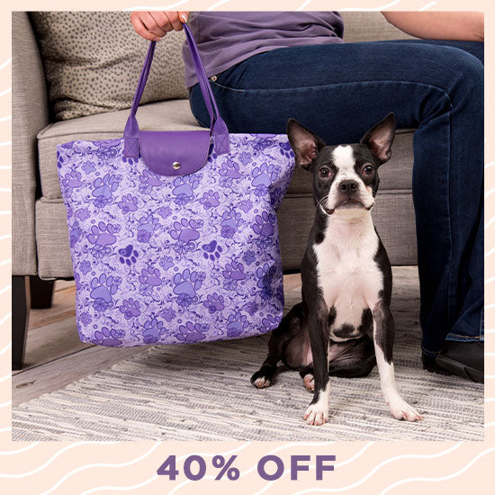 Paws Aplenty Folding Tote - 40% OFF
