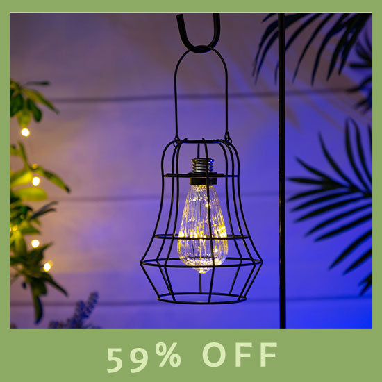 Garden Flair Metal Solar Light - 59% OFF