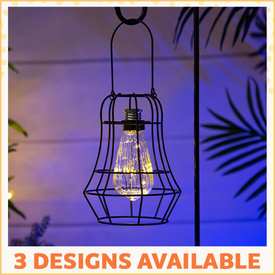 Garden Flair Metal Solar Light - 3 Designs Available