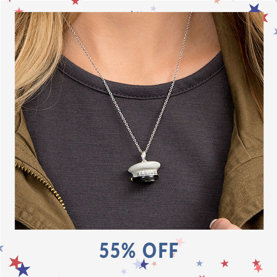 Military Hat Necklace - 55% OFF