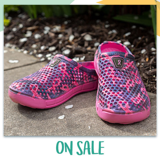 Pink Ribbon Pride Clogs for Women - On Sale
