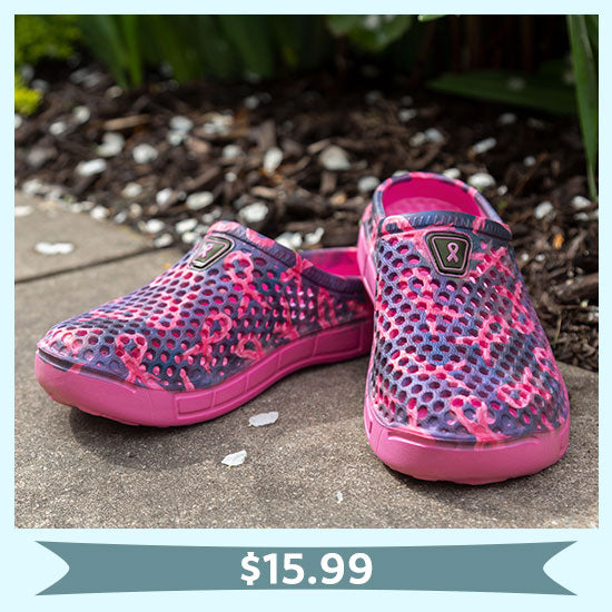 Pink Ribbon Pride Clogs for Women - $15.99