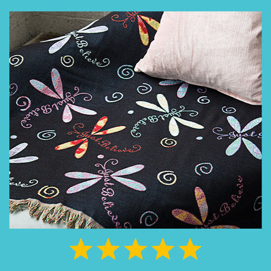 Dragonfly Tapestry Throw Blanket - ★★★★★