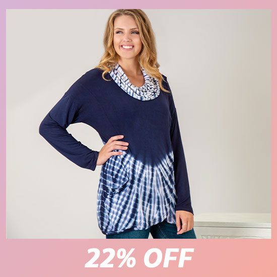 Waves Gone By Crossover Tunic - 22% OFF