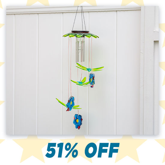 Dragonfly Dream Solar Wind Chime - 51% OFF