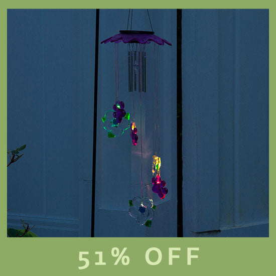 Starlight Paws Solar Wind Chime - 51% OFF
