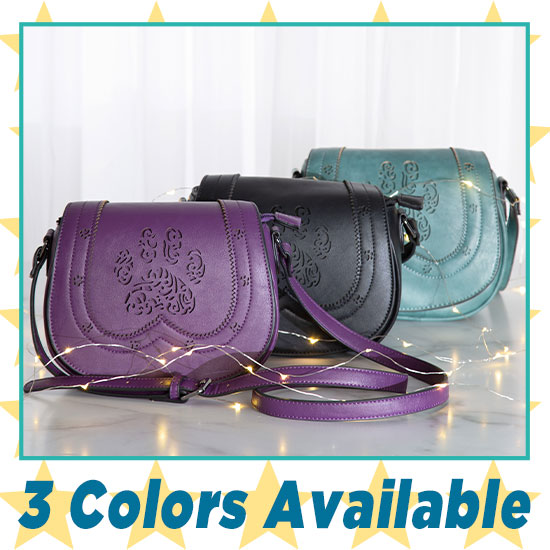 Paw Crossbody Petite Saddle Bag - 3 Colors Available