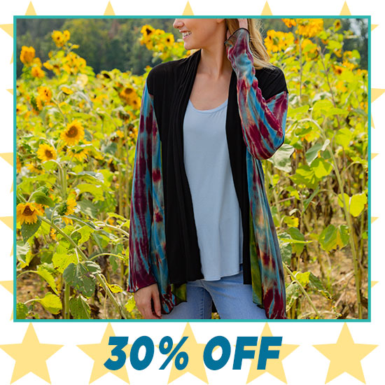 Perfectly Balanced Tie-Dye Open Cardigan - 30% OFF