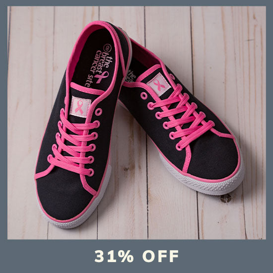 Pink Ribbon Breast Cancer Sneakers - 31% OFF