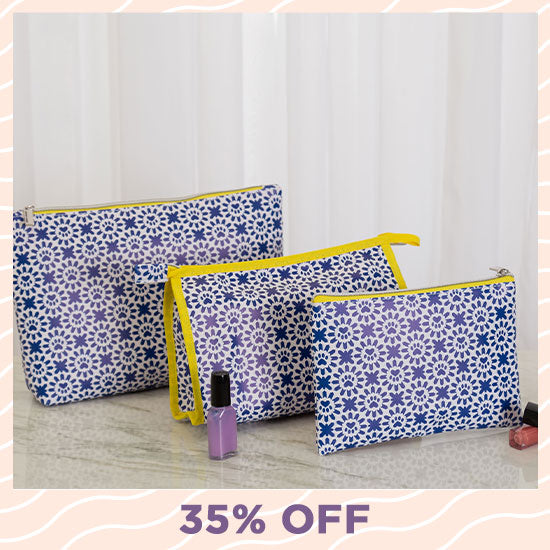 Indigo Paws Cosmetic Bag Set - 35% OFF