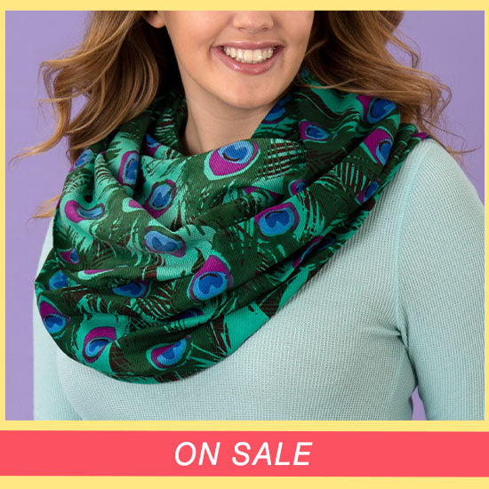 Peacock Feather Infinity Scarf - On Sale