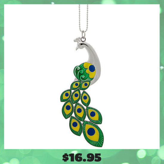 Peacock Plumage Car Charm- $16.95