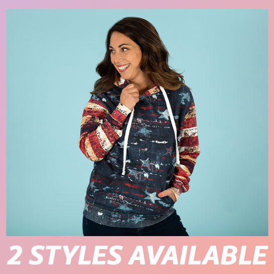 Old Glory Hooded Sweatshirt - 2 Styles Available