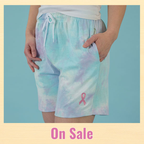 Pink Ribbon Tie-Dye Casual Shorts - On Sale