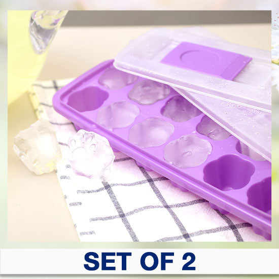 Paw Print No-Spill Ice Cube Trays - Set of 2
