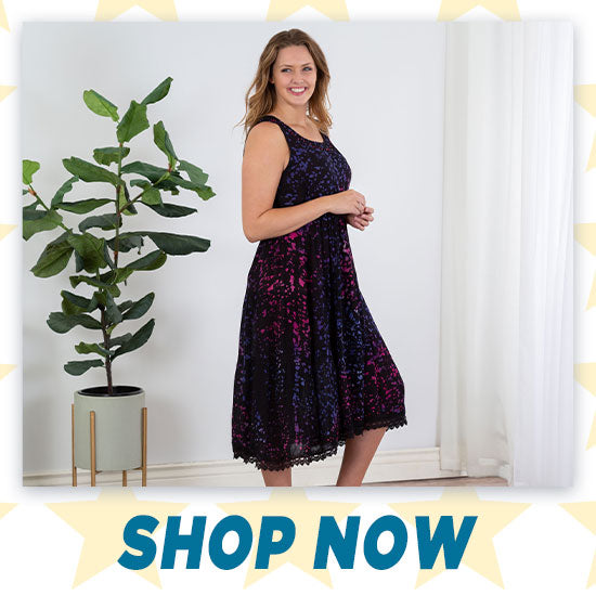 Meteor Shower Lace Hem Dress