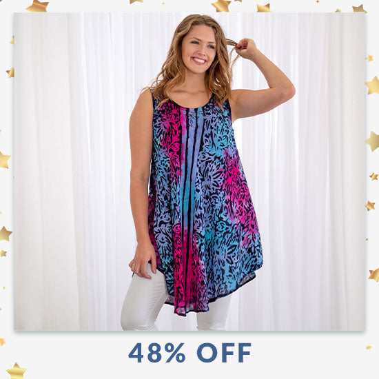 Dream in Color Sleeveless Tunic - 48% OFF