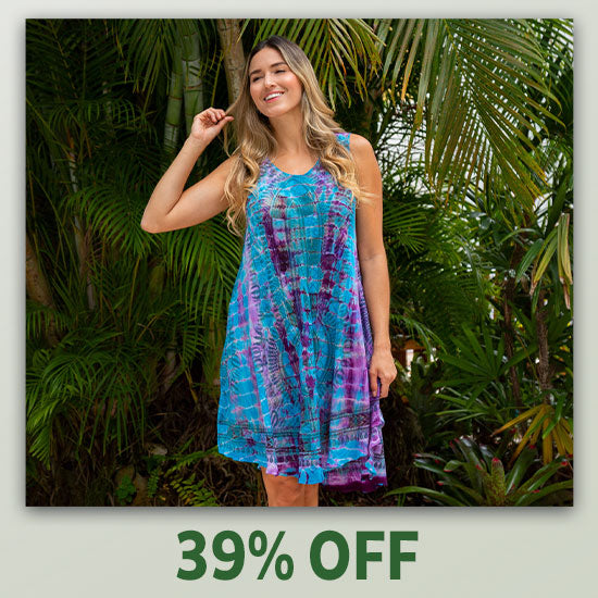 Tie-Dye Spirit Sleeveless Tunic - 39% OFF