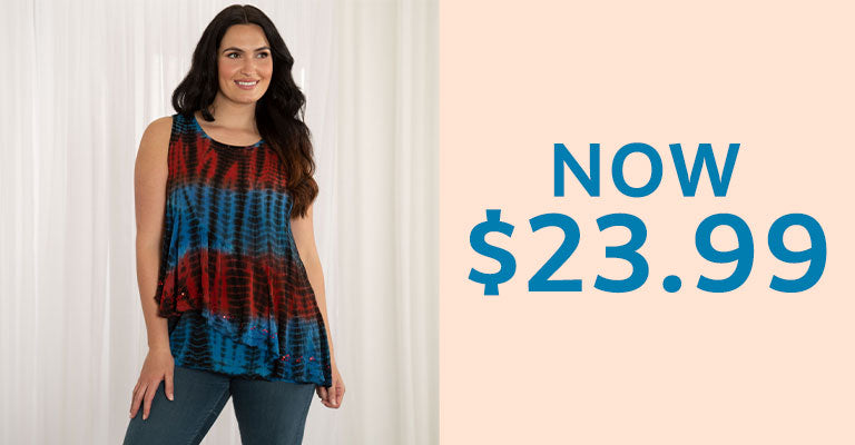 Sundance Asymmetrical Layered Tunic | $23.99
